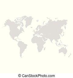 mondo, vettore, politico, mappa