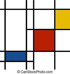 mondrian inspiration - mondrian inspired vibrant colors...