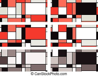 Mondrian style illustration - Illustration inspired by Piet...