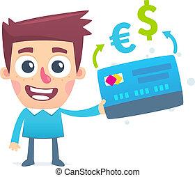 moneda, conversión, bancario línea