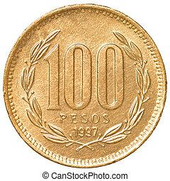 moneda, pesos, chileno, 100