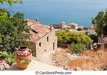Monemvasia at the Greek Peloponnese