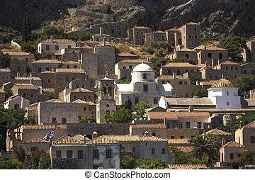Monemvasia - medieval fortress in Greece.