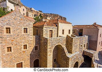 Monemvasia the medieval town in Peloponnese