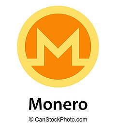 Monero icon, flat style