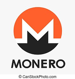 Monero XMR cripto currency vector logo - Monero XMR...