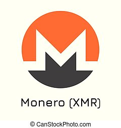 Monero (XMR). Vector illustration crypto coin ico