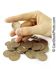 moneta, dita