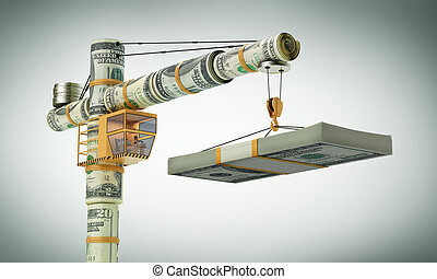 The monetary crane, Builds business (with path)