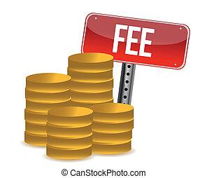 monetary fee concept illustration design over a white...