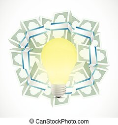 monetary ideas concept illustration
