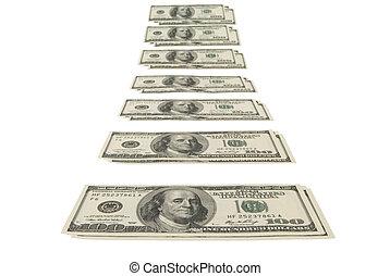 Monetary stream - This image - a design element.