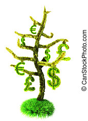 monetary tree - The picture is drawn in 3ds max (v-ray)