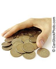 monete, cosegnare