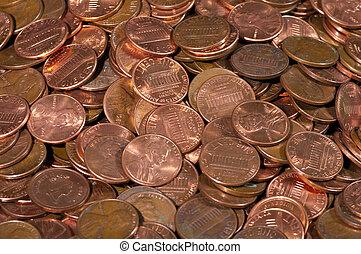 monete, mucchio, ci