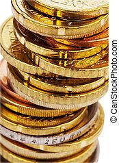 monety, stóg