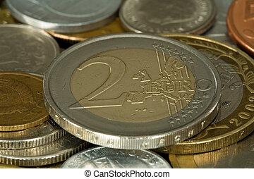 money 012 coin 2 euro full in focus