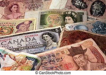 Money 1 - Different money paper from different country
