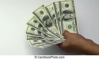 Money 100 dollars banknote