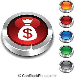 Money 3d button.