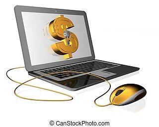 money   - 3d illustration of dollar