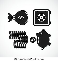 Money and finance vector icon