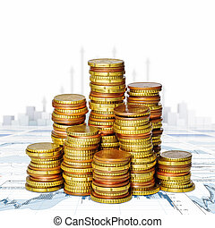 money  and financial graph