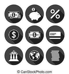 Financial Icons Monochrome Series