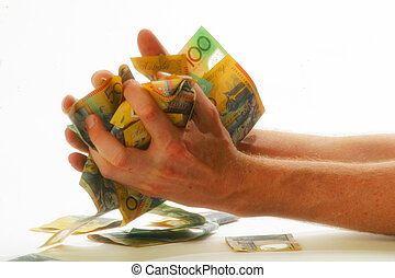 Money and hands