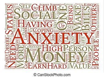 Money and Mind Word Cloud Concept Text Background