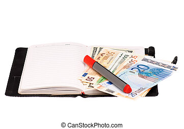 Money and notepad