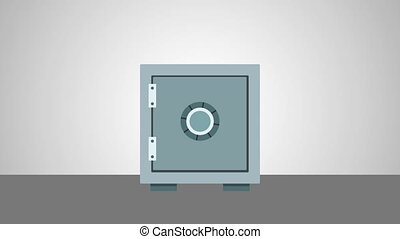 Strongbox closed and locked High Definition animation colorful scenes