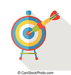 money Archery target flat icon