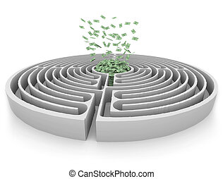 Money at the Center of a Maze