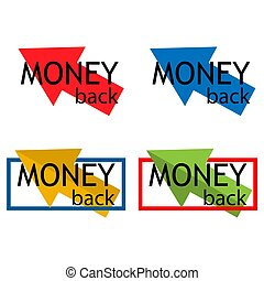 Money Back colorful icon, on white background - Vector