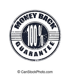 money back grunge stamp whit on vector illustration