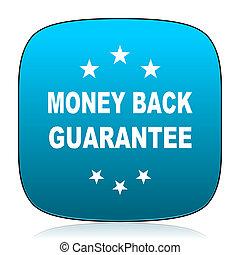 money back guarantee blue icon