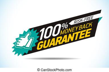 Money back guarantee label vector
