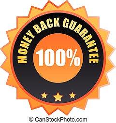Money back guarantee ribbon