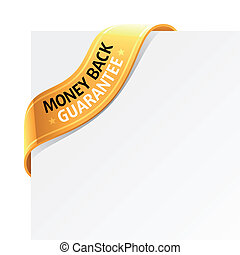 Money back guarantee sign - Vector illustration of a money...