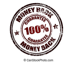 Grunge rubber stamp with the text money back guarantee written inside the stamp, vector illustration
