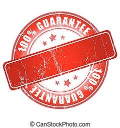 Money Back Guarantee stamp.