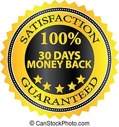 Money Back Guaranteed Badge - 30 Days Money Back Guaranteed...