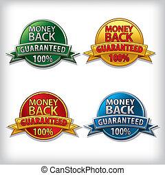 money back guaranteed badges