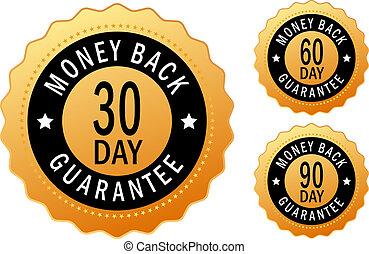 Money back icons set