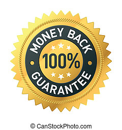 Vector illustration of a money back label