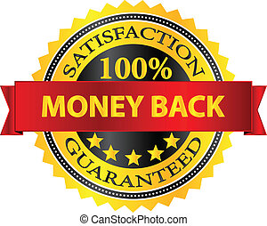 Money Back Satisfaction Guaranteed Badge Vector Illustration