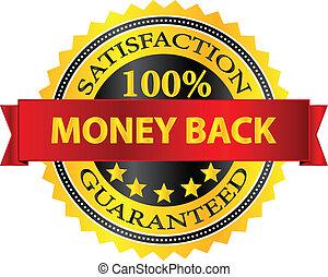 Money Back Satisfaction Guaranteed Badge Vector Illustration