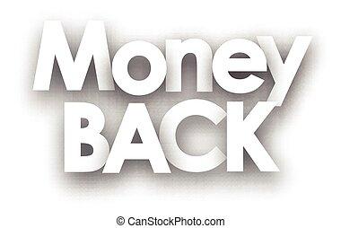 Money back sign