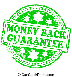 "Money Back Stamp - Rubber stamp illustration showing ""MONEY..."